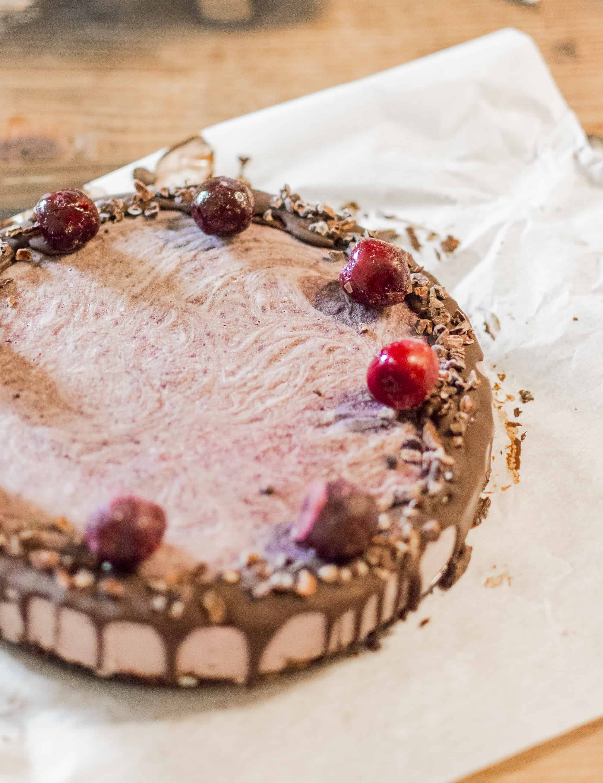 frozen cherry cake