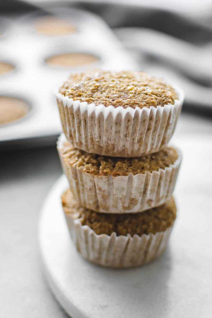 oat bran banana muffins
