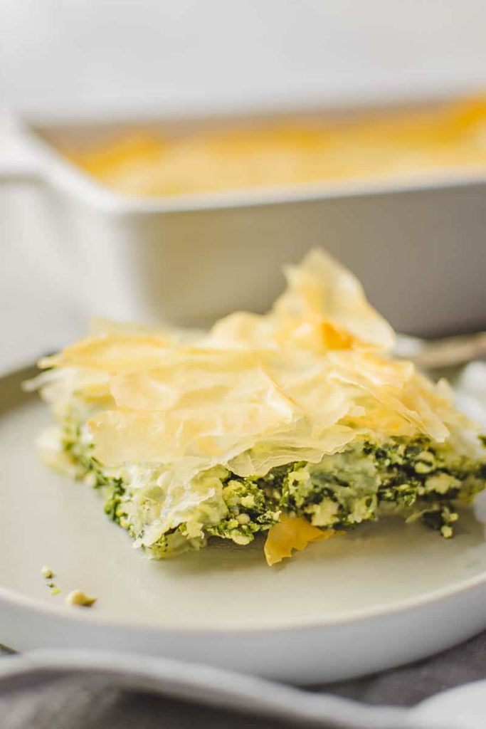 vegan spinach pie