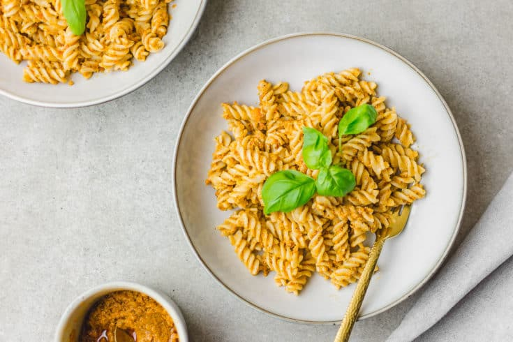 pesto rosso with pasta