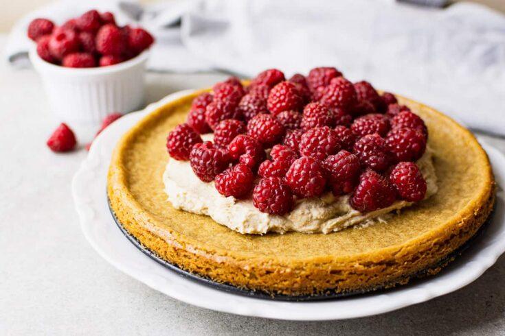 summer raspberry cake vegan and gluten-free